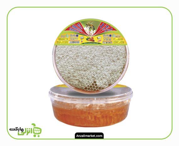عسل چهل گیاه با موم گلرنگ