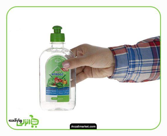 محلول ضدعفونی کننده میوه و سبزیجات افروز