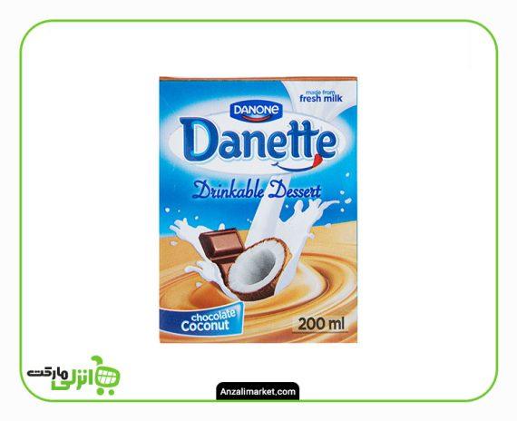 دسر نوشیدنی شکلات نارگیل دنت