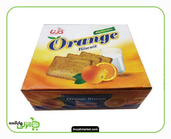 بیسکویت با طعم پرتقال درنا