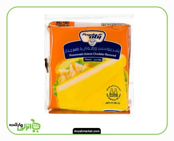 پنیر پروسس ورقه ای با طعم چدار 180 گرمی پگاه