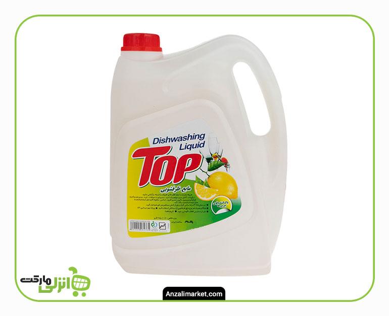 مایع ظرفشویی گالنی تاپ لیمو - 4 لیتر