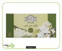 چای سبز کیسه ای احمد با طعم گل یاس - 25 عددی