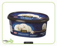 بستنی وانیلی با تکه های شکلات فوردو کاله - 1 لیتر