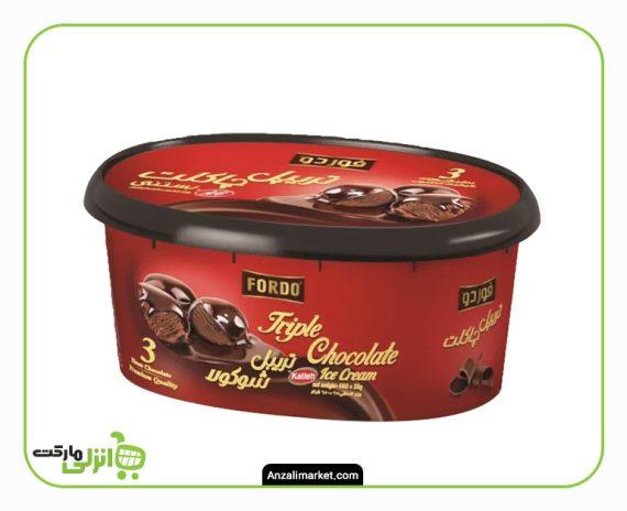 بستنی تریپل چاکلت فوردو کاله - 1 لیتر