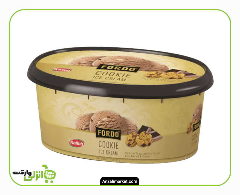 بستنی کوکی فوردو کاله - 1 لیتر