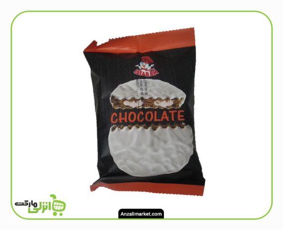 کیک گرد کاکائویی روکش شکلات سفید ایسترم - 60 گرم