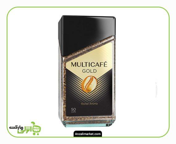 قهوه گلد مولتی کافه شیشه ای - 100 گرم