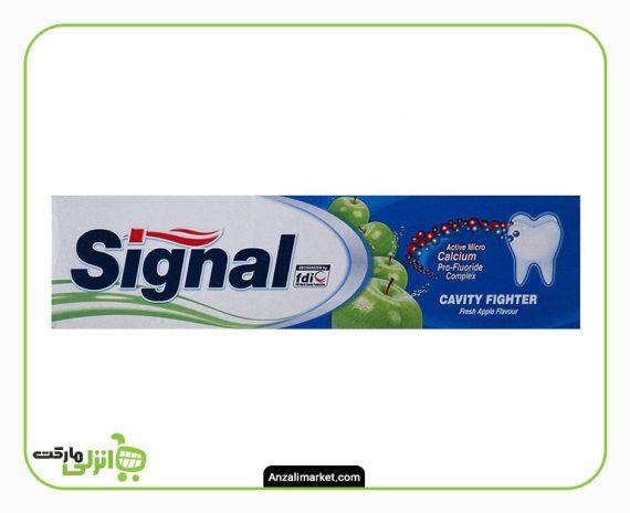 خمیر دندان ضد پوسیدگی با طعم سیب سیگنال - 100 میل