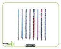 مداد مشکی طرح گل ماین جعبه فلزی - 24 عدد